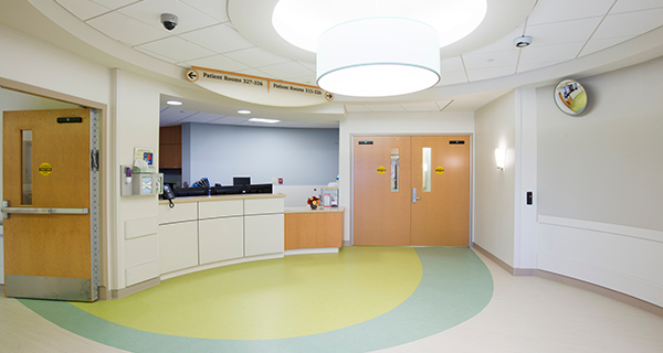 The maternity unit is equipped with state-of-the-art Hugs & Kisses® security system to protect against infant abduction.