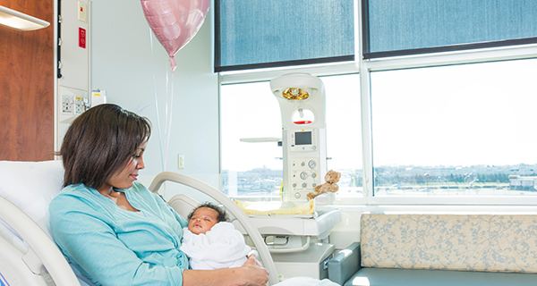 """A special button located on the unit can be pushed by a parent or family member to play the classic """"Brahm's Lullaby"""" announcing the arrival of each new baby."""
