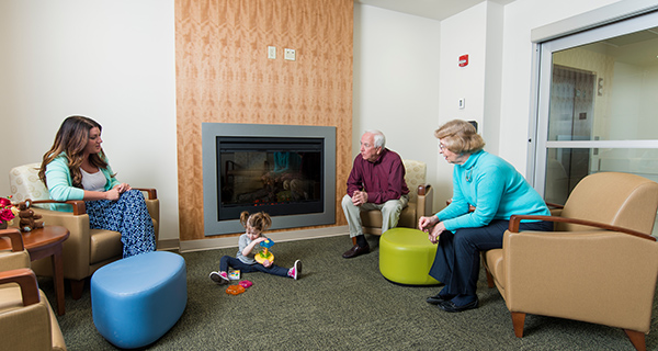 The Friends & Family Lounge is located near the nursery, to facilitate frequent visits with baby. In addition, while you wait, wi-fi and a flat screen TV is provided for the enjoyment of our guests.