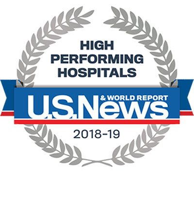 US News & World Report, High Performing Hospitals, COPD Heart Failure, 2018-19