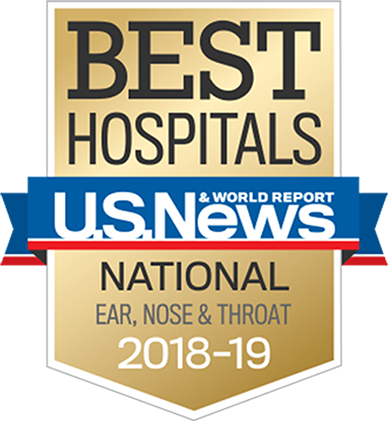 US News & World Report, Best Hospitals, National Ear, Nose and Throat, 2018-19