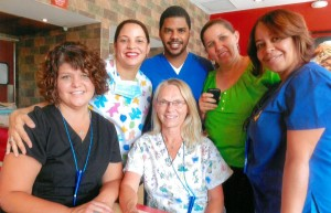UCMC NICU Nurses pose with medical team in Santo Domingo.