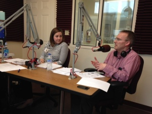 Lauren and Dr. Millar speak with WMKV host George Zahn.