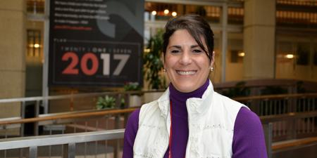 Angela Stillwagon, DO, a physical medicine & rehabilitation physician, at the UC Medical Center. Photo by Cindy Starr.