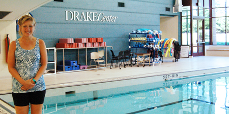 Lisa Newport, UC Health aquatics instructor, at the Daniel Drake Center for Post-Acute Care.