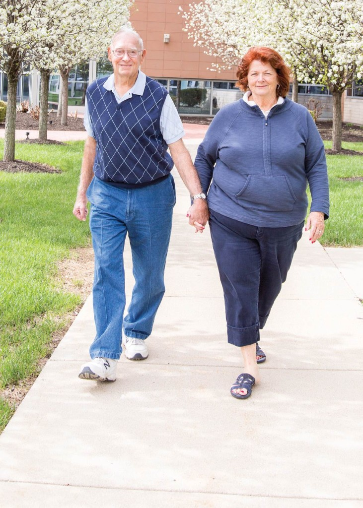 After experiencing a serious fall in his home, Richard Holden received care from the West Chester Hospital trauma team. Today, he's back to taking walks with his wife, Brenda.