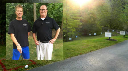 Paul Lake, left, and Bob Dames have built Chipping Away at Parkinson's into an annual neighborhood happening.