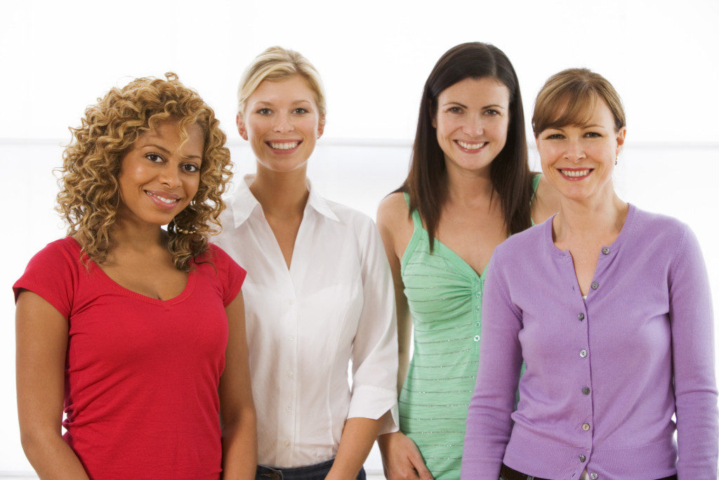 multiracial group of women standing