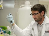 Michael Tranter, PhD, in the laboratory