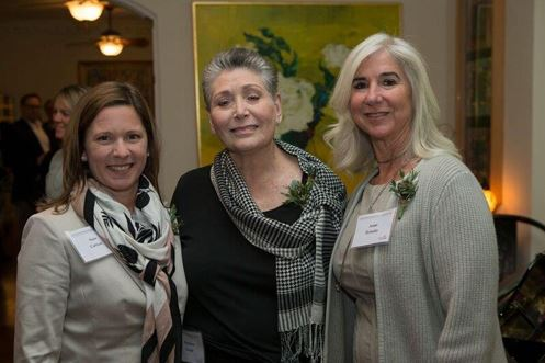 Sian Cotton, PhD, and event co-hosts Barbara Gould and Anne Ilyinsky
