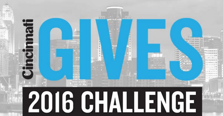 "text on image reads"" Cincinnati Gives 2016 Challenge"