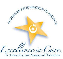 Bridgeway Pointe's secured Memory Care area, The Harbor, was the first in Ohio to be awarded the status of an 'Excellence in Care Dementia Program of Distinction' by the Alzheimer's Foundation of America.